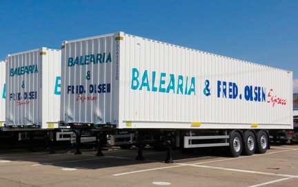 Baleària and Fred. Olsen acquire 74 containers carrier Lecitrailer