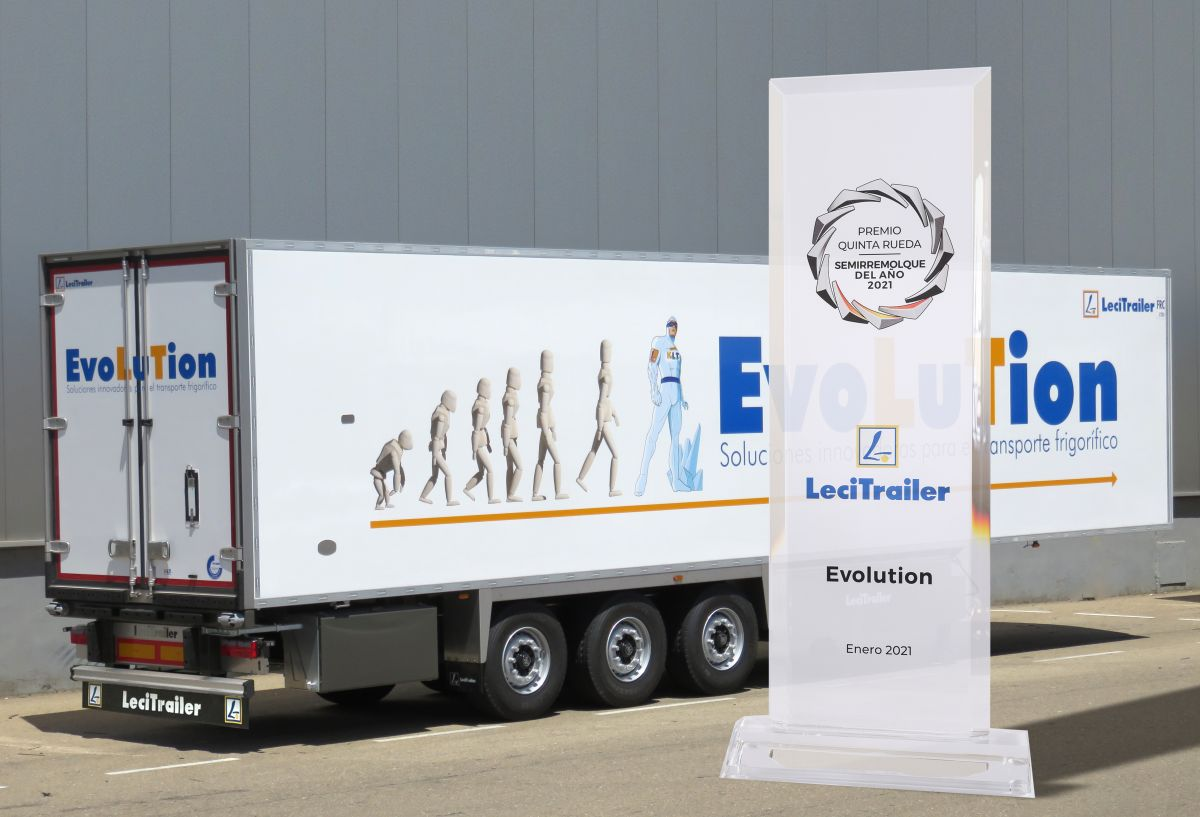 The Evolution reefer by Lecitrailer, best semi-trailer of the year in Spain